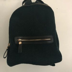 Zara dark green backpack